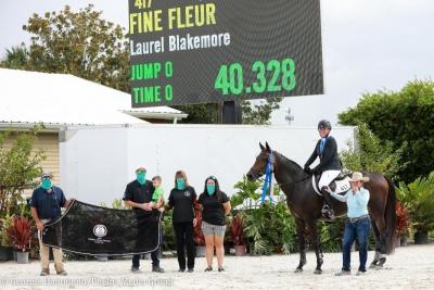 Fine Fleur par Cartier vd Heffinck vainqueur Grand Prix Eli Farri, Tampa(USA)