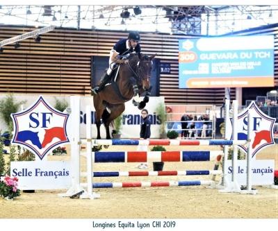GUEVARA du TCHEY par MASTER van de HELLE 3e Championnat de France 3ans Monté/Equita Lyon!