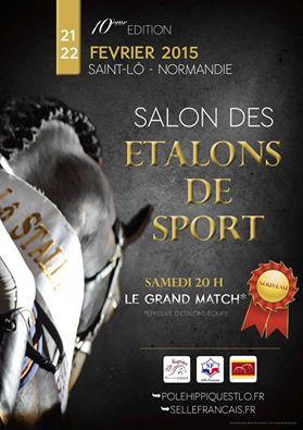L'Ecurie de La Claise présentera ses étalons aux Salons de St Lô et Poitiers.